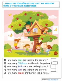 Ficha interactiva Numbers from 1 to 20 - 2nd class Mathematics