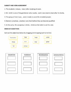 Interactive worksheet English LAS Week 7