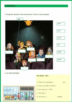 Interactive worksheet Listening Movers