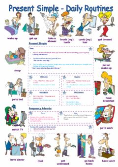 Ficha interactiva Frequency Adverbs and Daily Routine - Writing Exercise