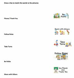 Interactive worksheet Respect: Word to Picture Matc