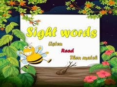 Ficha interactiva Sight words