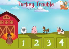 Interactive worksheet Turkey Trouble