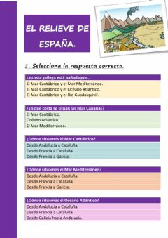 Interactive worksheet El relieve de España