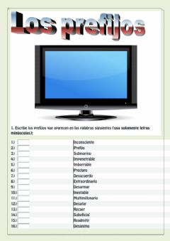 Interactive worksheet Los prefijos