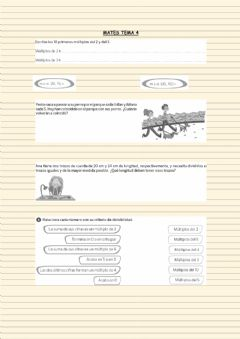 Interactive worksheet Mcm y mcd