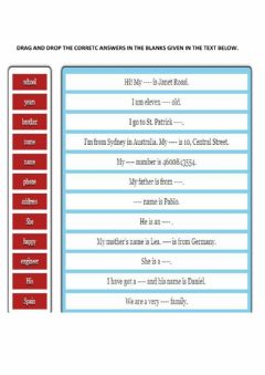 Interactive worksheet Text completion