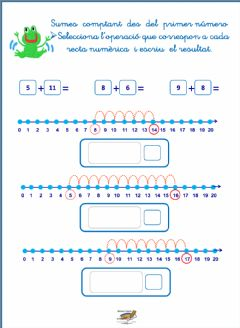 Interactive worksheet Recta numèrica sumes
