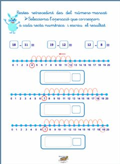 Interactive worksheet Recta numèrica restes