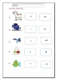 Interactive worksheet Letters f-j