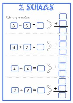 Interactive worksheet Sumas