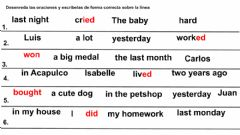 Interactive worksheet Unscramble the sentences in past