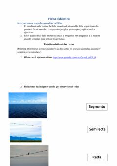 Interactive worksheet Rectas, semirectas y segmento