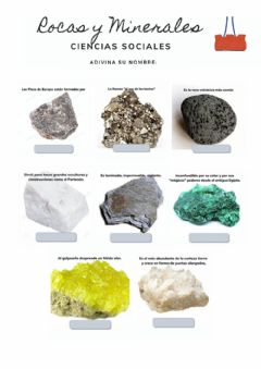 Interactive worksheet Rocas y Minerales