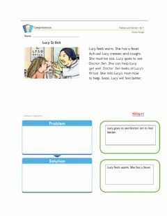 Interactive worksheet Lucy is Sick: Problem-Solution