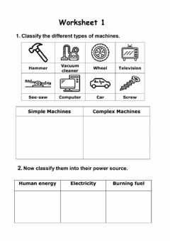 Interactive worksheet Simple and Complex Machines
