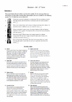 Interactive worksheet E4 Revision 1st Term