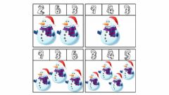 Interactive worksheet Counting Snowman