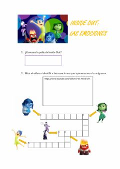 Interactive worksheet Inside Out. Las emociones