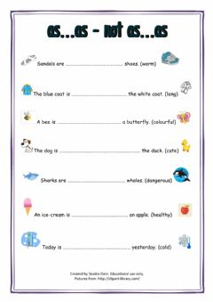 Interactive worksheet Comparatives-as-as