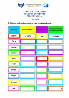 Interactive worksheet Actividad final