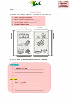 Interactive worksheet What do you eat