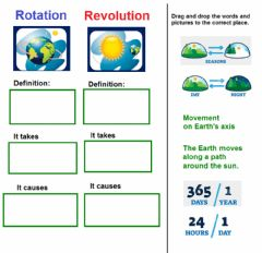Interactive worksheet Rotation and Revolution
