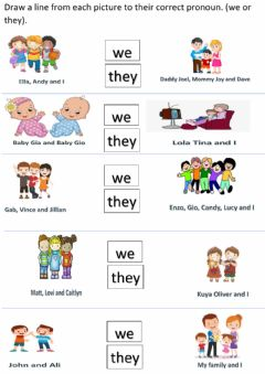 Interactive worksheet We and They