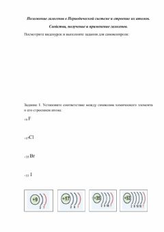 Interactive worksheet Галогены