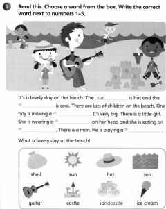 Interactive worksheet A Lovely day at the beach
