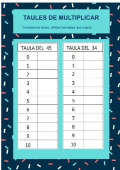 Interactive worksheet Taules dues xifres 1