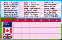 Interactive worksheet Listen and tick the country
