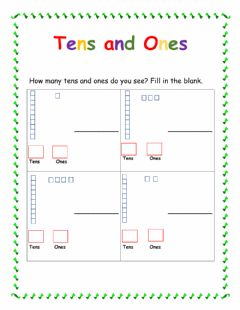 Interactive worksheet Teen Numbers