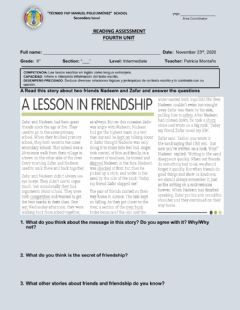 Interactive worksheet A lesson in friendship