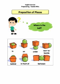 Interactive worksheet Preposition of Places