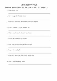 Interactive worksheet personal questions ch2 oral exam