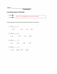 Interactive worksheet Temperature