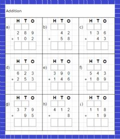 Ficha interactiva Addition Practice - regrouping