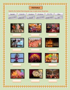 Interactive worksheet Festivals