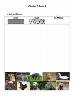 Interactive worksheet Animal Marks