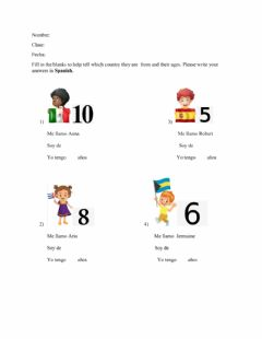 Interactive worksheet Introductions