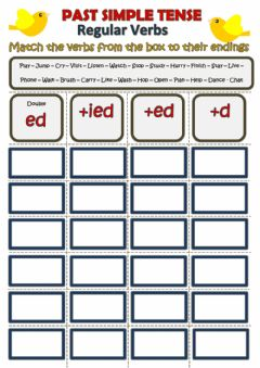 Interactive worksheet ED endings