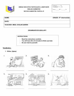 Interactive worksheet Grammar and vocabulary.5th inter