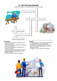 Interactive worksheet Crucigrama sector secundario