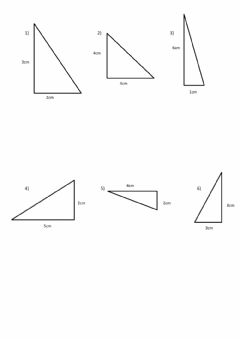 Interactive worksheet Area of Right Triangles