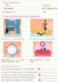 Interactive worksheet Preposition of place2