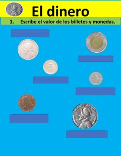 Interactive worksheet Dinero de panama