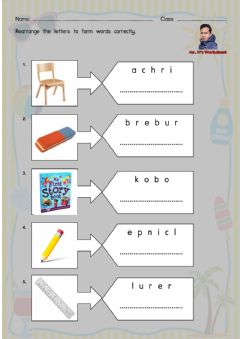 Ficha interactiva Things in the Classroom