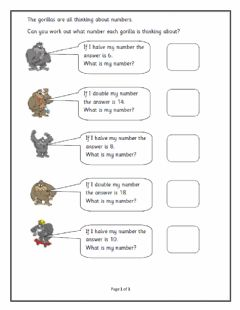 Interactive worksheet Doubling riddles