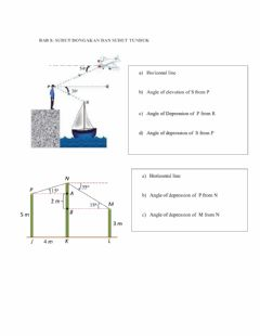 Interactive worksheet Angle of elevation and depression
